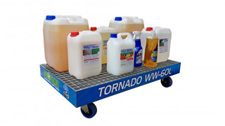 Mobile steel sump tray Tornado WW-60